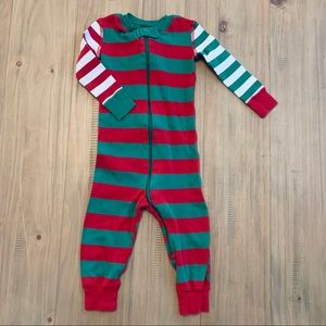 Hanna Andersson | Holiday Striped Romper Pajamas